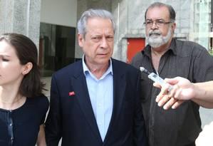 O ex-ministro da Casa Civil José Dirceu, condenado no processo no mensalão Foto: André Coelho/4-11-2014 / Agência O Globo