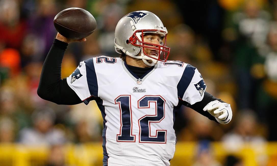 Lançador. Tom Brady, marido de Gisele Bundchen, joga pelo New England Patriots Foto: Christian Petersen / Getty Images