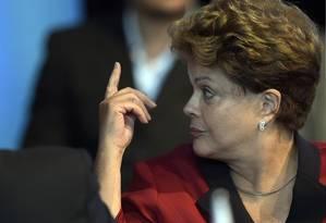Dilma Rousseff durante cupúla do Mercosul no Paraná Foto: AFP/17-12-2014