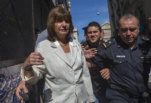 Denúncia. Opositora Patricia Bullrich revela que Nisman disse ser traído por agente da Side Foto: Ivan Fernandez/AP