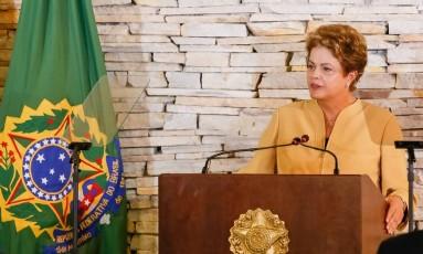 Dilma faz discurso em abertura de reunião ministerial Foto: Roberto Stuckert Filho / Presidência da República