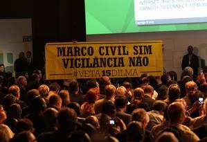Marco Civil da Internet entrou em vigor em junho do ano passado, mas dois pontos polêmicos ainda aguardam por regulação Foto: Marcos Alves / Agência O Globo