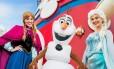 Anna, Olaf e Elsa: personagens da animação Frozen que serão inspiração para os cruzeiros da Disney Cruise Line