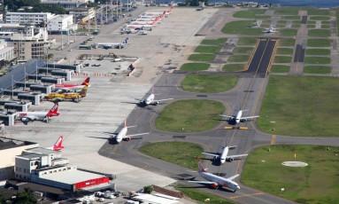Vista Aérea do Aeroporto Santos Dumont, no Rio de Janeiro Foto: Genílson Araújo / Genílson Araújo/02-23-2014