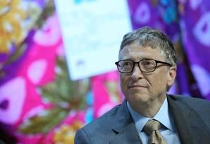 Bill Gates, fundador da Microsoft, está ao lado de Elon Musk e Stephen Hawking sobre o futuro da Inteligência Artificial Foto: Chris Ratcliffe / Bloomberg
