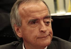 O ex-diretor da área internacional da Petrobras Nestor Cerveró durante seu depoimento sobre a polêmica compra da refinaria de Pasadena Foto: Jorge William / Agência O Globo