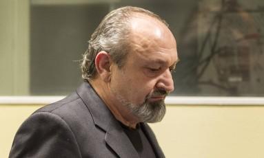 Vujadin Popović na corte da ONU: ele e Ljubiša Beara continuam sentenciados à prisão perpétua Foto: Michael Kooren / AP
