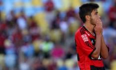 Mattheus foi emprestado pelo Flamengo para o Estoril, de Portugal Foto: Rafael Moraes/19-1-2014