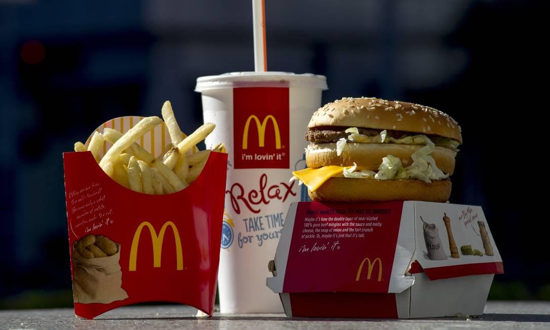 Combo do Big Mac, o mais tradicional sanduíche da rede americana Foto: David Paul Morris / Bloomberg