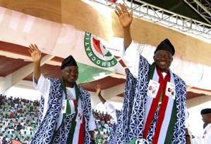 O atual presidente da Nigéria Goodluck Jonathan, candidato à reeleição Foto: Reuters/29-1-2015