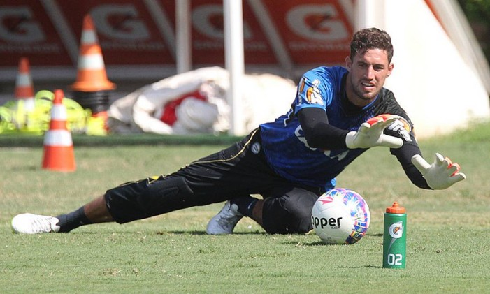O goleiro do Vasco, Martín Silva, durante treino Foto: MarceloSadio / Vasco da Gama