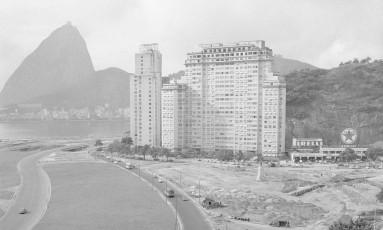 O Aterro do Flamengo, na altura do Morro da Viúva, em 1965 Foto: Arquivo O Globo