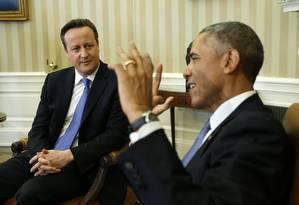 O primeiro-ministro britânico, David Cameron, e o presidente americano, Barck Obama, fizeram duras críticas à criptografia Foto: KEVIN LAMARQUE / REUTERS