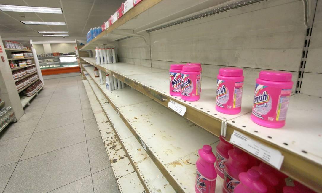 Escassez de produtos básicos de limpeza e higiene atinge também os turistas Foto: OMAR VELIZ / EL NACIONAL
