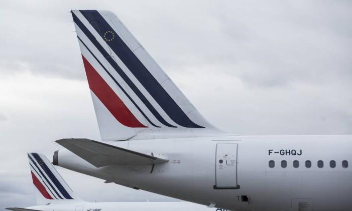 Avião da Air France no aeroporto de Toulouse-Blagnac, na França Foto: Balint Porneczi / Bloomberg