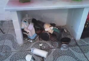Um dos espaços que teve imagens destruídas no local Foto: Arquivo Pessoal
