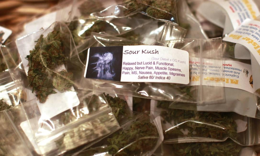 Pacotinhos de maconha prontos para a venda no Colorado Foto: RICK WILKING / REUTERS