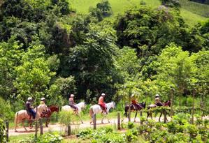 A cavalgada é uma das opções na região de Socorro Foto: Divulgação / FotoAgência FACTO