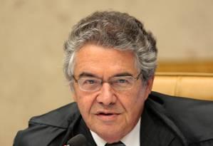 Ministro Marco Aurélio Foto: Agência O Globo