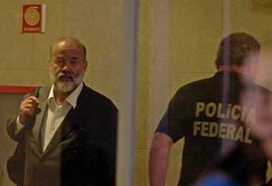 O tesoureiro do PT, João Vaccari Neto, chega à Superintendência Regional da Polícia Federal (PF) em São Paulo Foto: Felipe Rau / Estadão Conteúdo