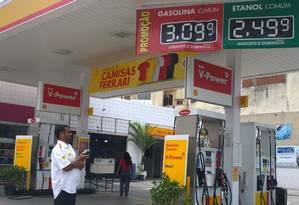 Posto Shell na Rua Carolina Machado: preço promocional não fica claro Foto: Ediane Merola/04-02-2015