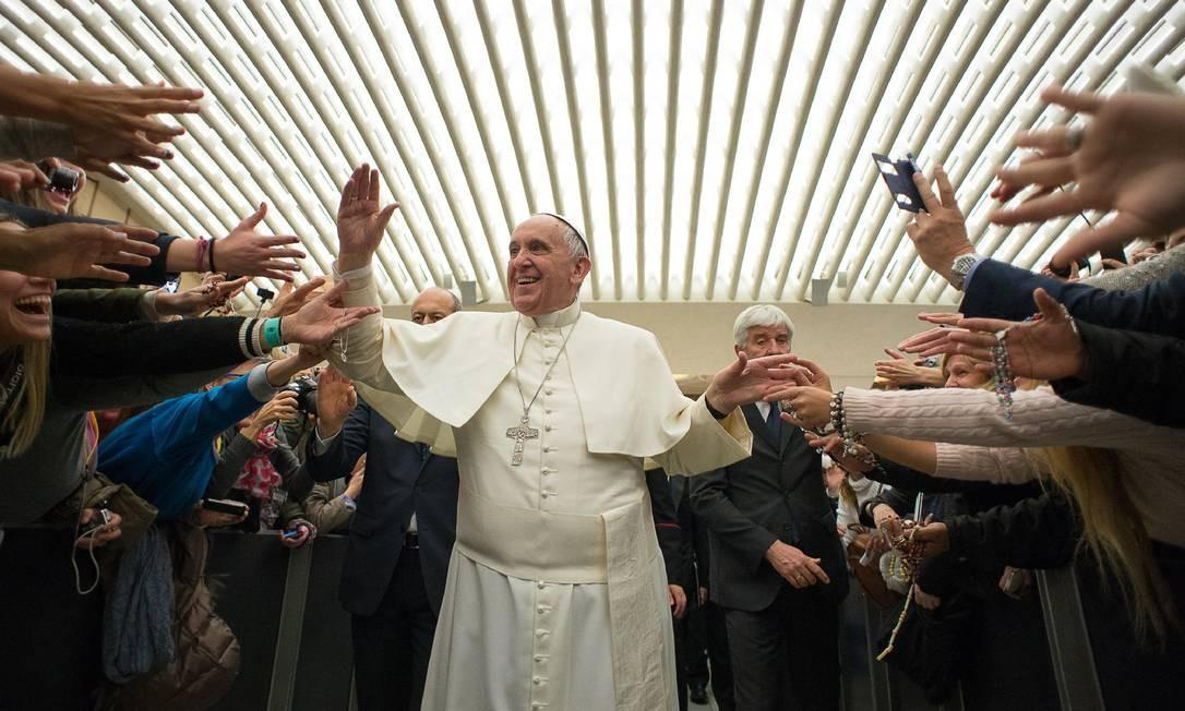 Pontífice disparou outro comentário polêmico no final de janeiro Foto: AP