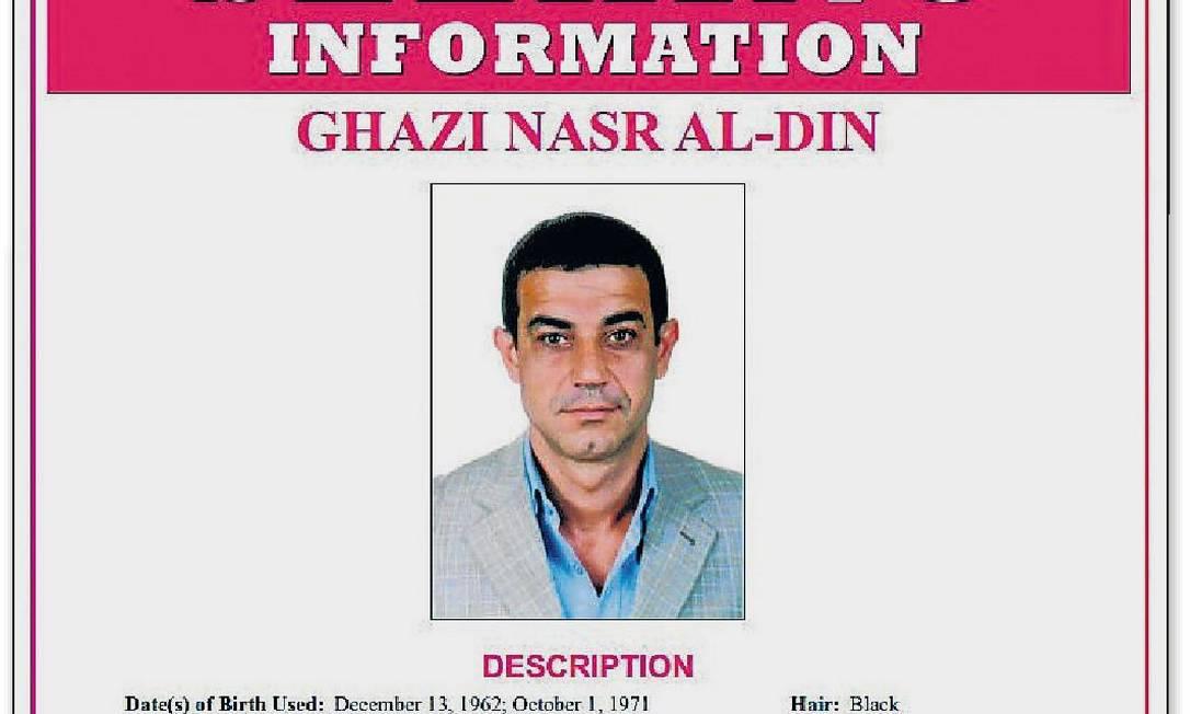 Procurado. Pôster do FBI busca libanês-venezuelano: principal assessor de ex-ministro do Interior de Chávez Foto: Divulgação
