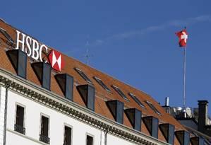 HSBC em Genebra: filial suíça do banco é suspeita de operar um sistema de evasão de divisas Foto: PIERRE ALBOUY / REUTERS