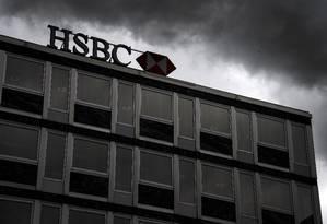 Fachada do HSBC no Centro de Genebra Foto: FABRICE COFFRINI / AFP