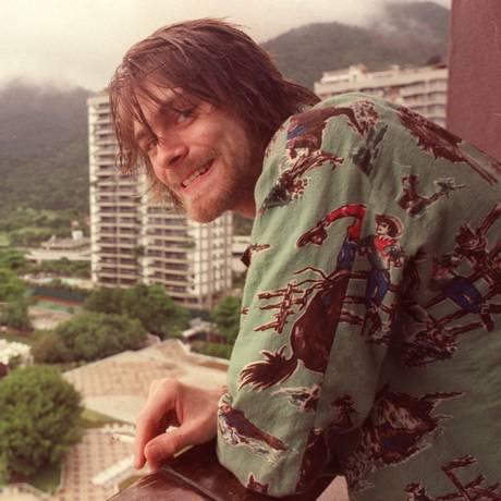 O cantor no hotel em que ficou hospedado na cidade, em 1993: apresentação histórica no Hollywood Rock Foto: Márcia Foletto