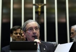 O presidente da Câmara, Eduardo Cunha (PMDB-RJ) Foto: Givaldo Barbosa/5-2-2015 / Agência O Globo