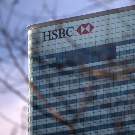 A sede do HSBC em Londres: banco é alvo de investigação sobre evasão de divisas Foto: ANDREW COWIE / AFP