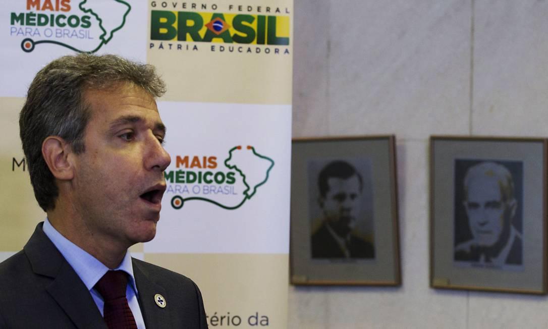 O ministro da Saúde, Athur Chioro Foto: Jorge William / Agência O Globo