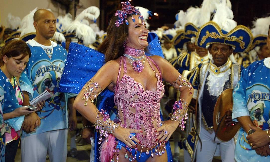 A ex-modelo Luma de Oliveira, em desfile da Portela em 2015 Foto: Pablo Jacob / Agência O Globo