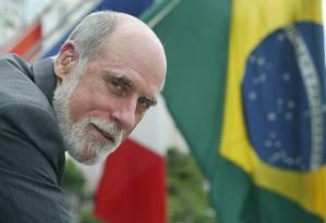 Vint Cerf, um dos pais da internet, durante visita ao Brasil em 2003 Foto: Marco Antônio Teixeira / Arquivo/O GLOBO