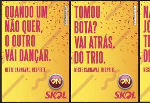 Nova campanha de carnaval de cervejaria incentiva respeito na paquera Foto: Divulgação