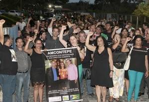 Em Recife. Conselheiros tutelares em caminhada de protesto, após chacina Foto: Hans von Manteuffel/12-2-2015