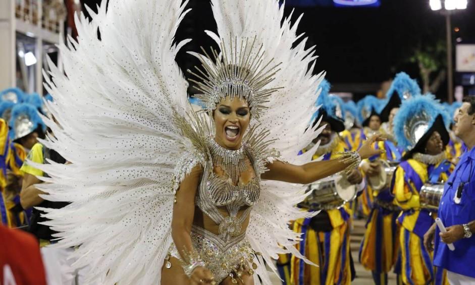 A rainha de bateria da Unidos da Tijuca, Juliana Alves Foto: Pablo Jacob / Agência O Globo
