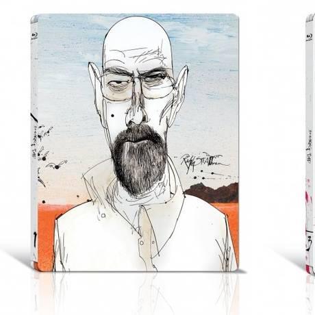 Arte do cartunista Ralph Steadman para caixas de Blu-ray de