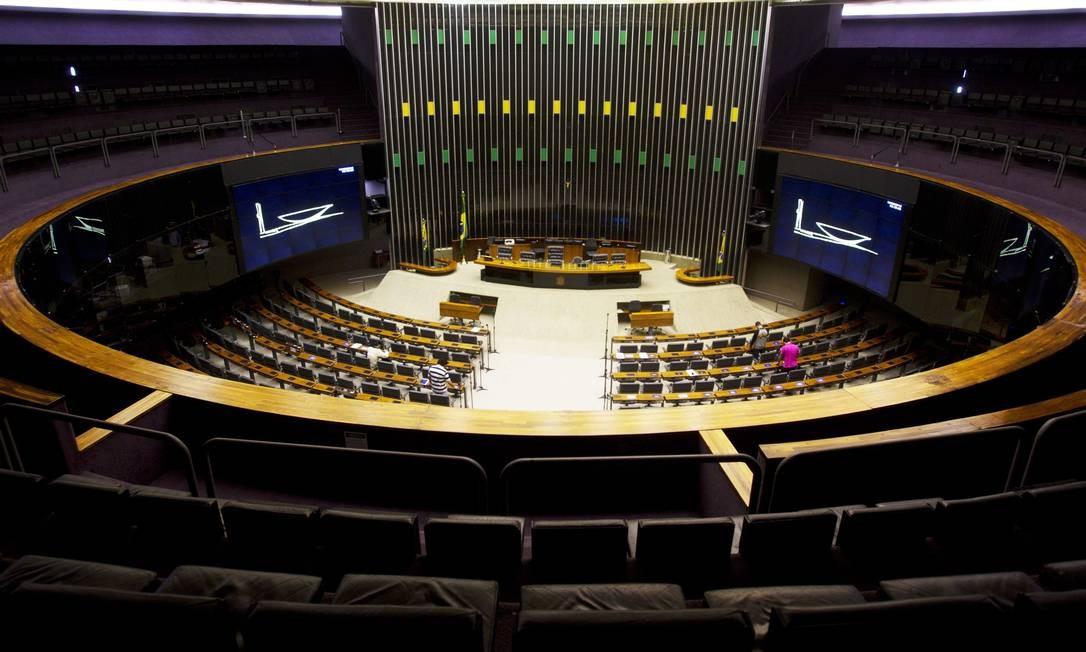 Câmara dos Deputados ficou vazia nesta quinta-feira Foto: Jorge William / Agência O Globo