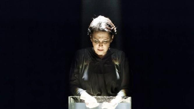 Ana dá voz à memória de Sibylle Lacan, sob a direção de Vera Holtz e Guilherme Leme Garcia Foto: Divulgação / Marcelo Correa