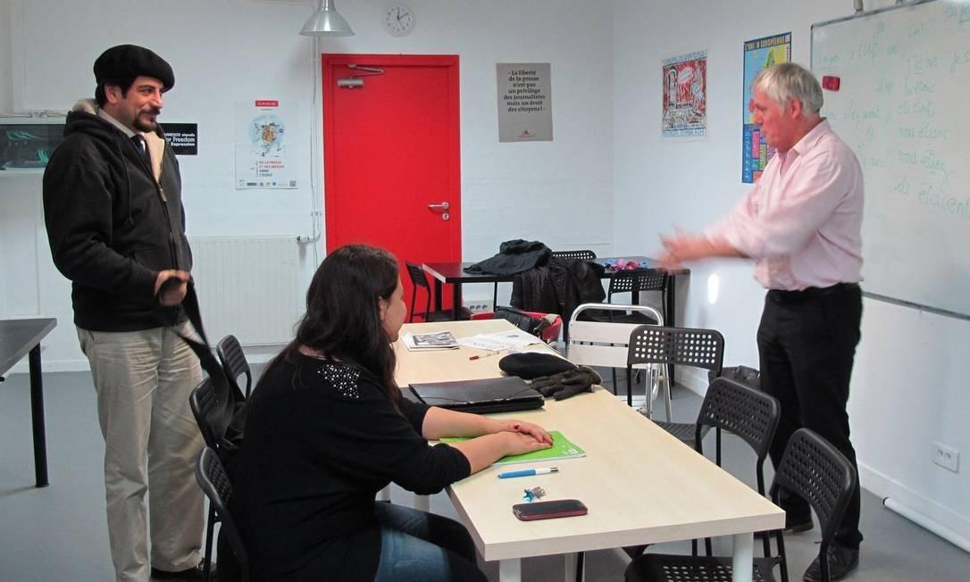 """Jornalistas têm aula de francês na """"Maison des Journalistes"""", que funciona desde 2002 em imóvel da Prefeitura de Paris e é financiada por jornais Foto: Fernando Eichenberg /"""