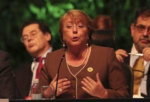 Michelle Bachelet reconheceu atividades suspeitas em empréstimo Foto: Costa Rica Presidency / REUTERS