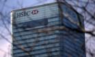 Sede do HSBC em Londres Foto: ANDREW COWIE / AFP