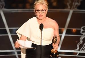 Patricia Arquette: discurso pela igualdade de gênero Foto: ROBYN BECK/AFP