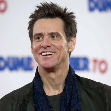 O ator Jim Carrey em evento de divulgação de 'Debi & Lóide 2' Foto: JUSTIN TALLIS / AFP