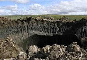 Crateras intrigaram cientistas no ano passado Foto: Governo Regional do Yamal