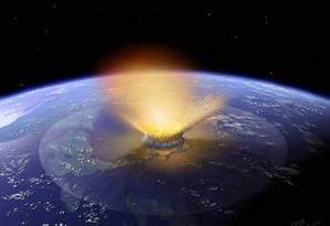 Relatório lista 12 ameaças à humanidade, entre elas, a queda de um imenso asteroide Foto: AFP