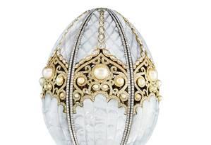 O ovo Fabergé apresentado no Qatar