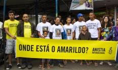 Anistia Internacional do Brasil em ato de solidariedade à família de Amarildo Foto: Elisângela Leite/Anistia Internacional